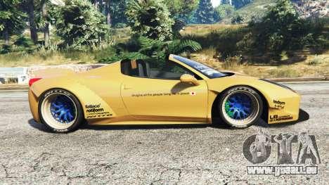 GTA 5 Ferrari 458 Spider [Liberty Walk] linke Seitenansicht