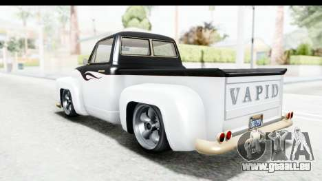 GTA 5 Vapid Slamvan without Hydro für GTA San Andreas Räder