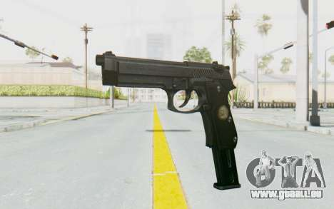 Tariq Iraqi Pistol Back v1 Black Long Ammo für GTA San Andreas