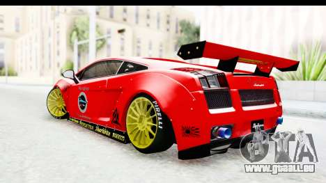 Lamborghini Gallardo Superleggera 2007 pour GTA San Andreas laissé vue