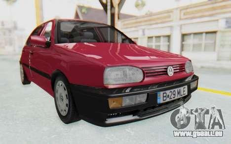 Volkswagen Golf 3 1994 pour GTA San Andreas vue de droite