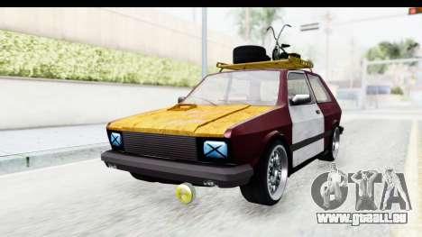Zastava Yugo Koral Rat Style pour GTA San Andreas vue de droite