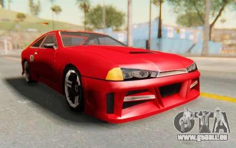 Elegy GT v1 pour GTA San Andreas vue arrière