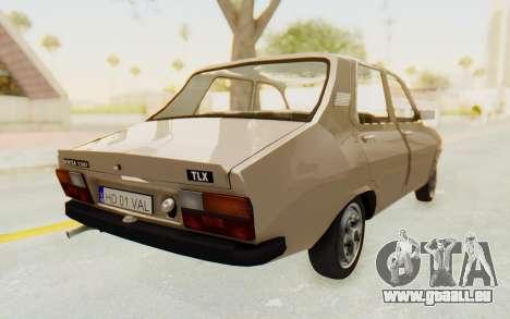 Dacia 1310 TLX pour GTA San Andreas sur la vue arrière gauche