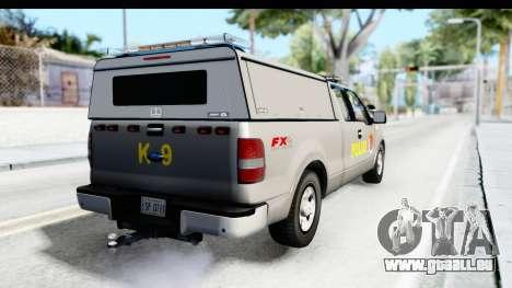 Ford F-150 Indonesian Police K-9 Unit pour GTA San Andreas laissé vue