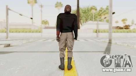 MGSV Phantom Pain Venom Snake Leather Jacket für GTA San Andreas dritten Screenshot