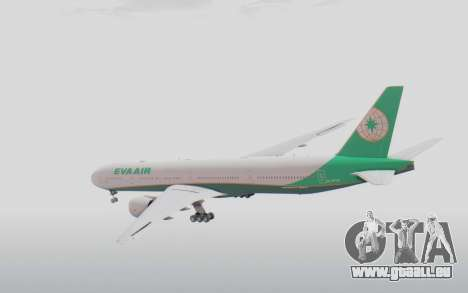 Boeing 777-300ER Eva Air v3 für GTA San Andreas rechten Ansicht