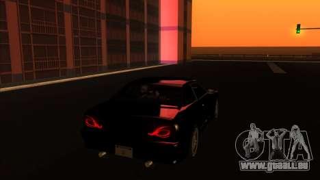 Elegy Bushido pour GTA San Andreas sur la vue arrière gauche