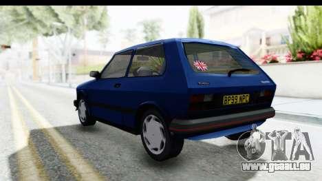 Zastava Yugo Koral UK pour GTA San Andreas laissé vue