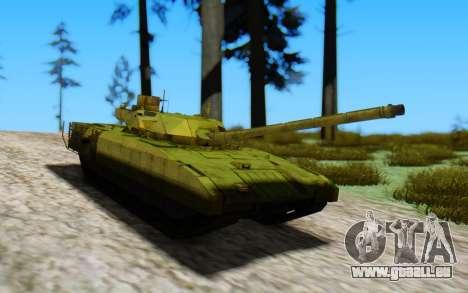 T-14 Armata Green pour GTA San Andreas sur la vue arrière gauche