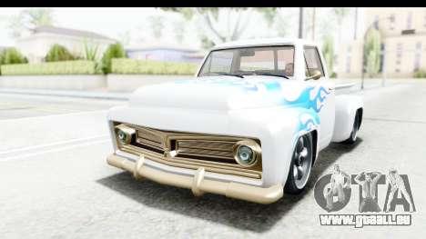 GTA 5 Vapid Slamvan without Hydro pour GTA San Andreas vue de dessous