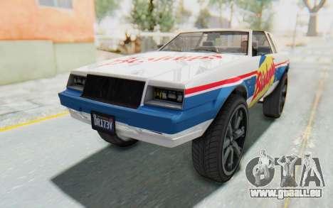 GTA 5 Willard Faction Custom Donk v1 IVF pour GTA San Andreas vue de dessous