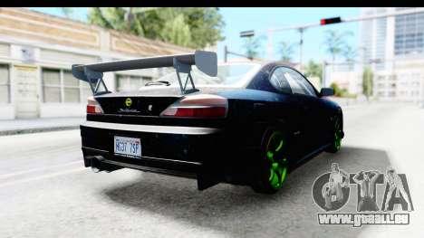 Nissan Silvia S15 Galaxy Drift v2.1 pour GTA San Andreas sur la vue arrière gauche