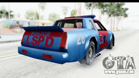Hotring Police pour GTA San Andreas vue de droite