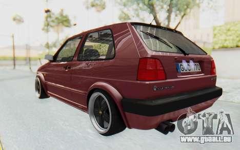 Volkswagen Golf Mk2 pour GTA San Andreas sur la vue arrière gauche