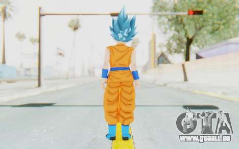 Dragon Ball Xenoverse Female Saiyan SSGSS für GTA San Andreas dritten Screenshot