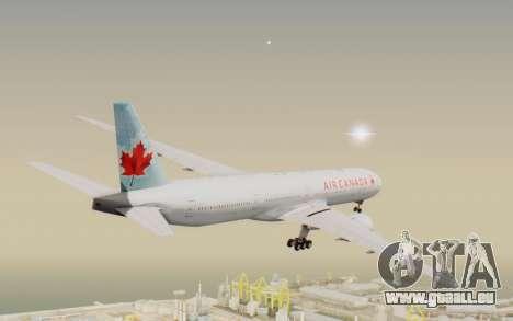Boeing 777-300ER Air Canada für GTA San Andreas rechten Ansicht