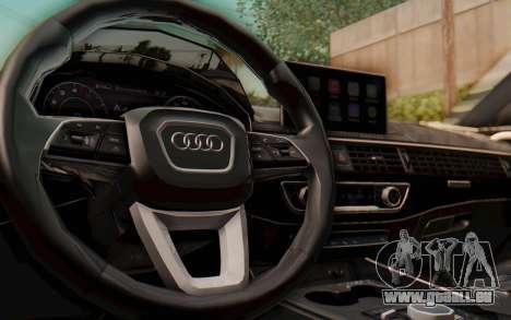 Audi A4 2017 HQLM pour GTA San Andreas vue intérieure