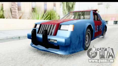 Hotring Police pour GTA San Andreas sur la vue arrière gauche