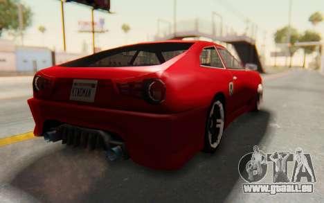 Elegy GT v1 pour GTA San Andreas vue de droite
