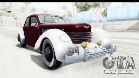 Cord 812 Charged Beverly Low Chrome für GTA San Andreas rechten Ansicht