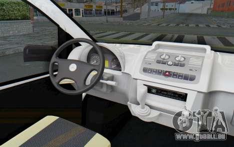 Mercedes-Benz Viano W639 2010 Long Version pour GTA San Andreas vue intérieure