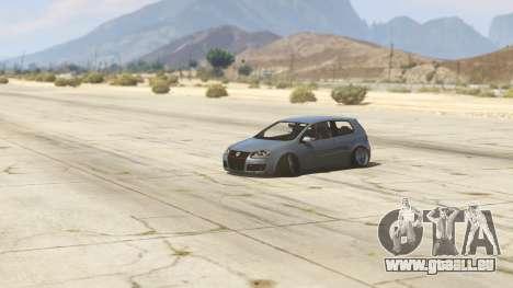 GTA 5 Volskwagen Golf MkV Stance Rückansicht