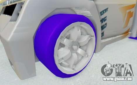Hot Wheels AcceleRacers 3 pour GTA San Andreas vue arrière