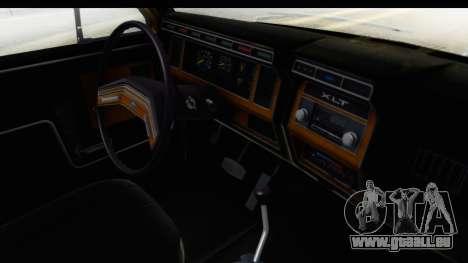 Ford Bronco 1980 IVF pour GTA San Andreas vue intérieure
