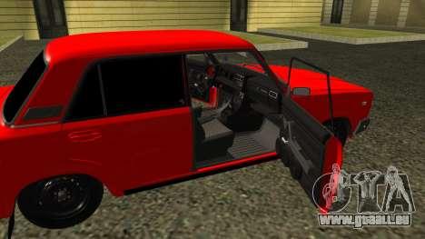 2107 pour GTA San Andreas vue intérieure