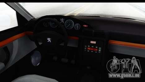 Peugeot 406 Coupe pour GTA San Andreas vue intérieure