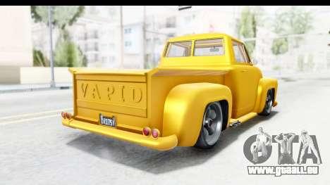 GTA 5 Vapid Slamvan without Hydro pour GTA San Andreas vue de droite