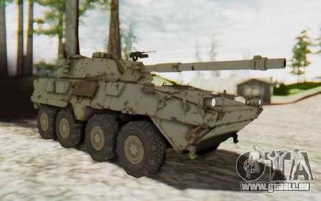 MGSV Phantom Pain STOUT IFV APC Tank v1 pour GTA San Andreas vue de droite