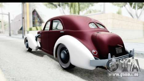 Cord 812 Charged Beverly Low Chrome für GTA San Andreas linke Ansicht