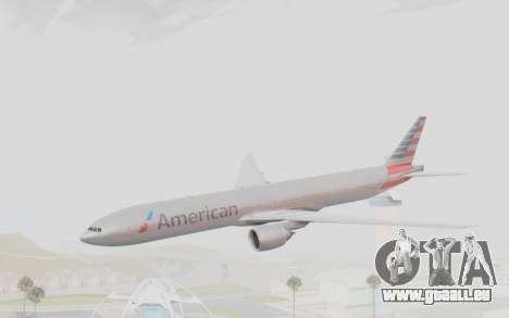 Boeing 777-300ER American Airlines N727AN für GTA San Andreas zurück linke Ansicht