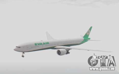 Boeing 777-300ER Eva Air v3 pour GTA San Andreas sur la vue arrière gauche