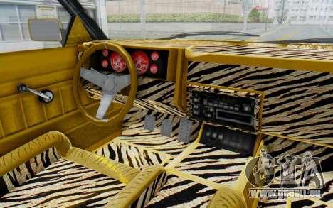GTA 5 Willard Faction Custom Donk v1 IVF pour GTA San Andreas vue intérieure