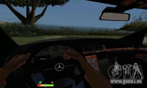 Mercedes-Benz MB W140 1999 für GTA San Andreas Rückansicht