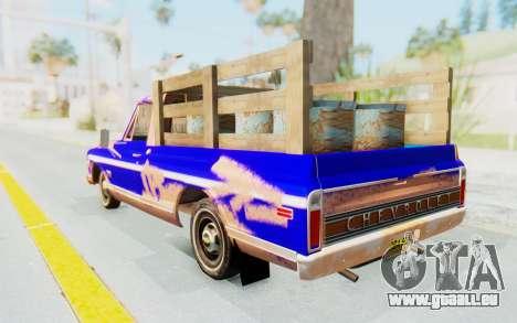 Chevrolet C10 1970 pour GTA San Andreas laissé vue