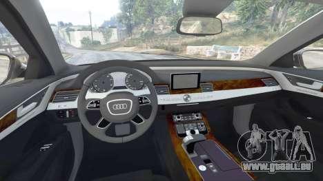 GTA 5 Audi A8 FSI 2010 vorne rechts Seitenansicht