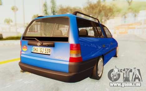 Opel Astra F Kombi 1997 pour GTA San Andreas sur la vue arrière gauche