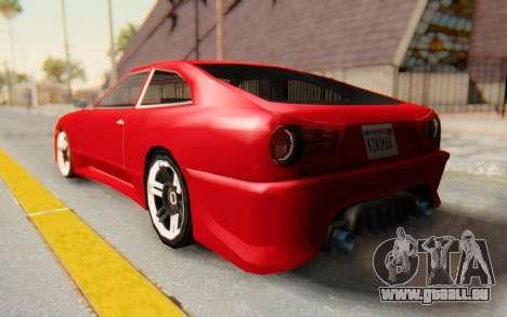 Elegy GT v1 pour GTA San Andreas laissé vue