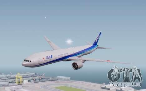 Boeing 777-300ER ZK-OKO - Smaug Livery pour GTA San Andreas sur la vue arrière gauche