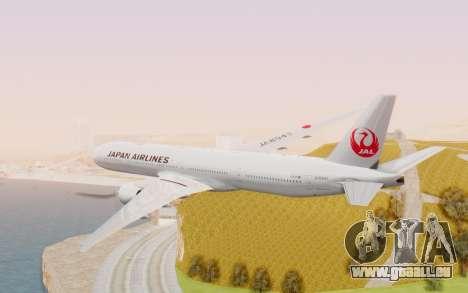 Boeing 777-300ER Japan Airlines v2 pour GTA San Andreas vue de droite