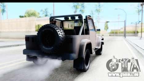 Mesa MAXimum 4x4 pour GTA San Andreas laissé vue