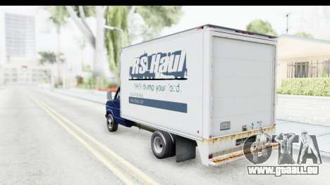 Ford E-350 Cube Truck IVF pour GTA San Andreas laissé vue