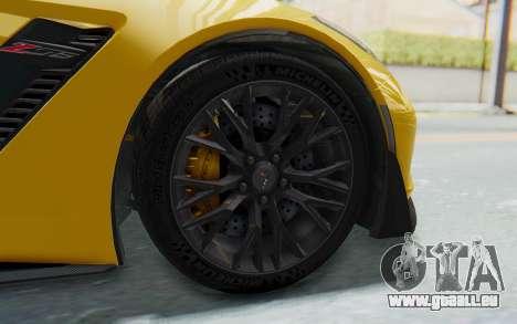 Chevrolet Corvette C7.R Z06 2015 für GTA San Andreas zurück linke Ansicht