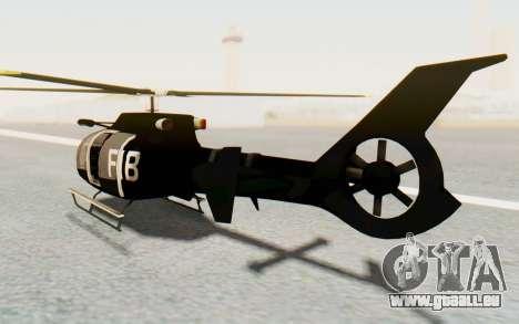 GTA 5 Maibatsu Frogger FIB für GTA San Andreas zurück linke Ansicht