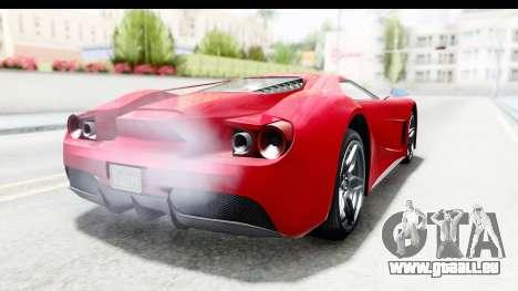 GTA 5 Vapid FMJ IVF pour GTA San Andreas sur la vue arrière gauche