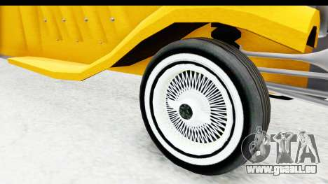 Unique V16 Fordor Taxi für GTA San Andreas Rückansicht